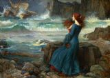Waterhouse, John William: Miranda, the Tempest. (From the Play of William Shakespeare) Fine Art Print/Poster. Sizes: A4/A3/A2/A1 (00272)